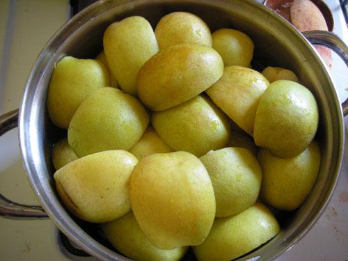 Pot full of fruit for making juice