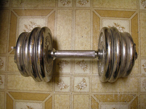 Free weights as kitchen accessories