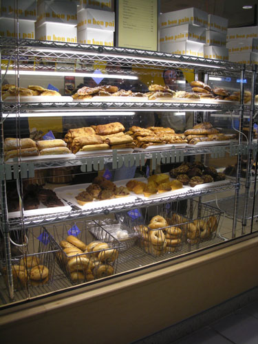 Pastry case at Au Bon Pain