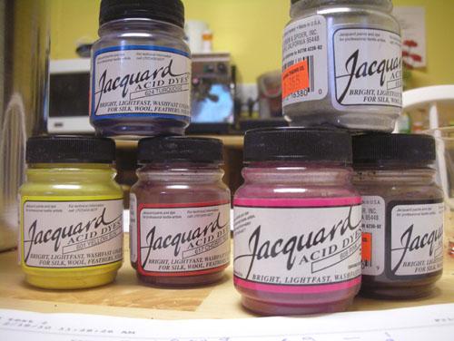 Acid dye powders
