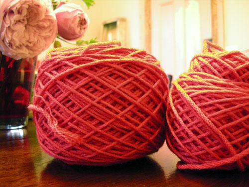 Balled up yarn
