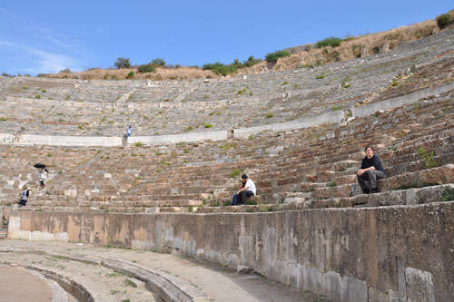 In the big amphitheater
