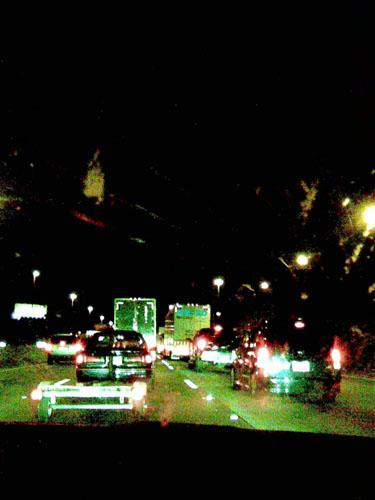 Jammed up highway
