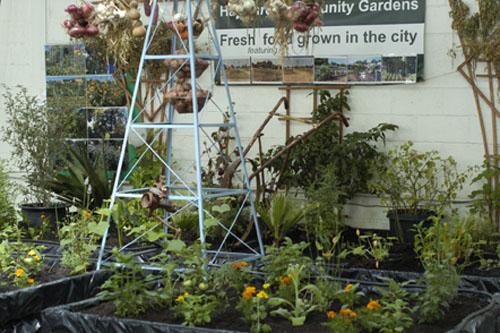 Urban gardening exhibit
